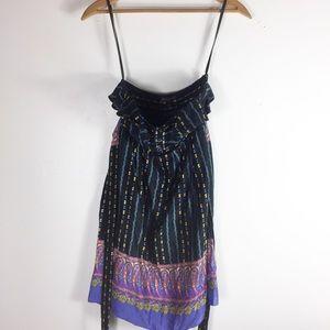 Betsey Johnson Multicolor Strapless Dress